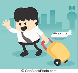 Businessman Character Travel Lifestyle