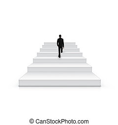 Businessman Climbing Stairs Be The First Concept