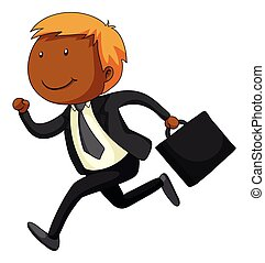 Businessman - Close up businessman in suit running