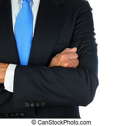 Businessman Closeup With Arms Crossed