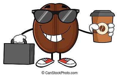 Businessman Coffee Bean Character