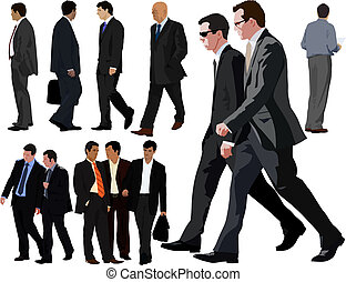 Businessman collection - Businessman vector realistic...