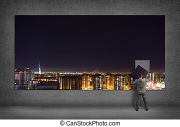 businessman collects the image