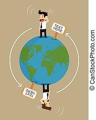businessman communicate global Business