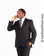 Businessman communication on phone