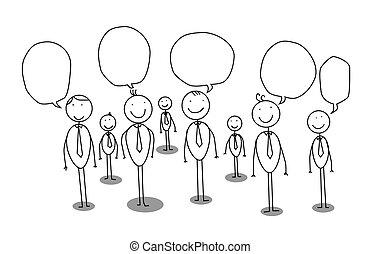 businessman community vector cartoon
