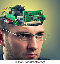 Businessman - computer