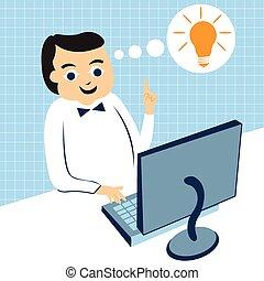 businessman computer work