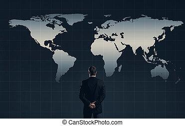 businessman., concept., financier, bureau, business