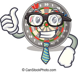 Businessman dartboard in the shape of mascot