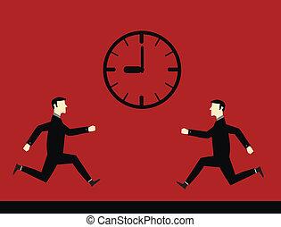 Businessman Deadline Time
