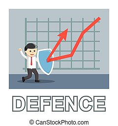 Businessman defence photo text style