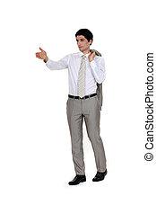 Businessman directing