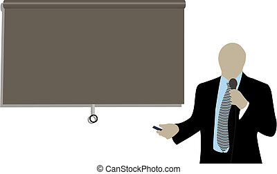 businessman doing a presentation at a conference