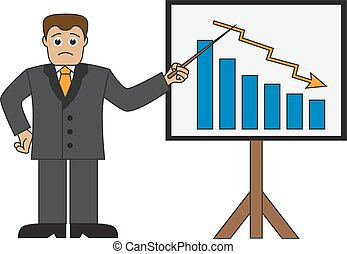 businessman doing a presentation