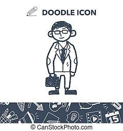 businessman doodle