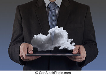a Cloud Computing diagram on the new computer interface -...