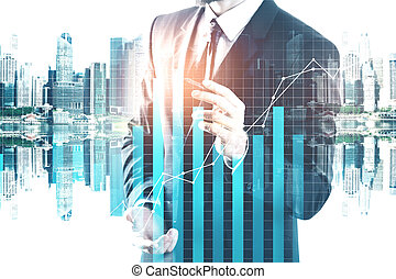 Future, innovation and finance concept