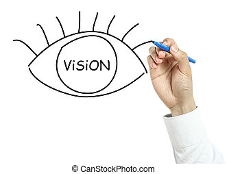 Businessman drawing Vision concept