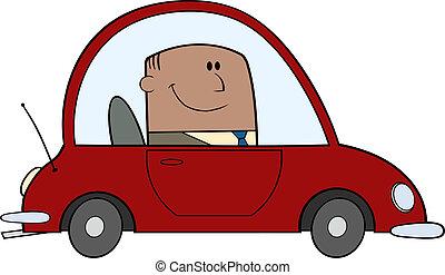 Businessman Driving Car