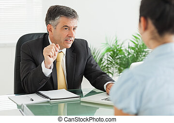 Businessman during a meeting