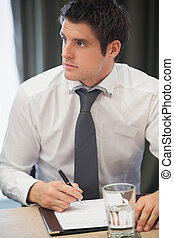 Businessman during meeting