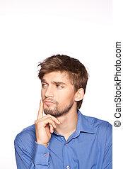 Businessman emotion - emotional businessman portrait...