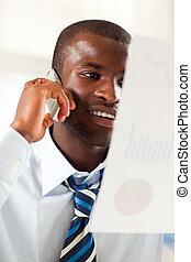 businessman examining documents