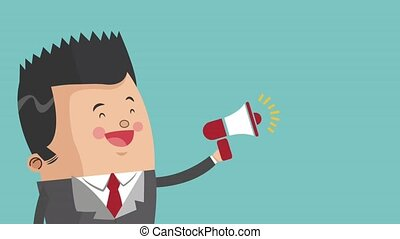 Businessman executive cartoon HD animation - Businessman...