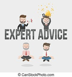 businessman expert advice illustration
