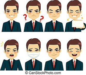 Businessman Expressions Avatar