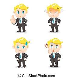 Businessman facial expressions