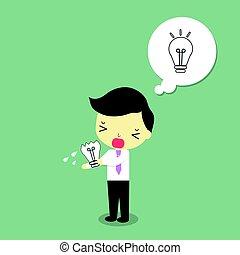 businessman fail make idea