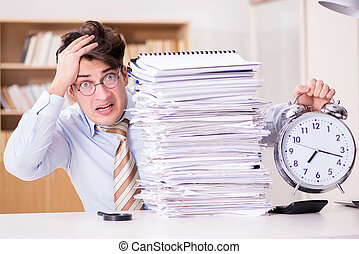 Businessman failing to meet report deadlines