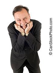 businessman failure - very sad businessman crying after...