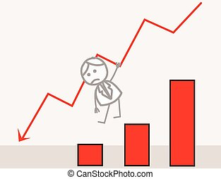 Businessman Fall Chart