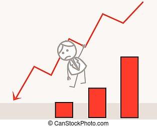 Businessman Fall Chart
