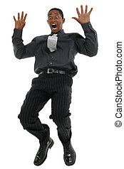 Businessman Falling And Screaming