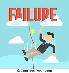 businessman falling failed