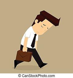 businessman fatigue because of hard work. vector