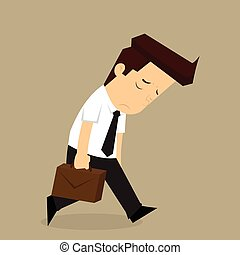 businessman fatigue because of hard work. vector