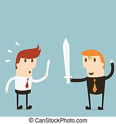 Businessman fight