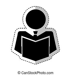 businessman figure silhouette icon