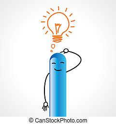 businessman figurine with idea - businessman figurine with...