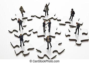 Businessman figurines & puzzle - Businessman figurines...