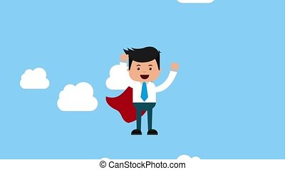businessman financial money - hero businessman with cape...