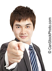 businessman finger pointing you