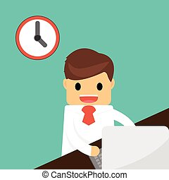 Businessman finish working . Business concept .