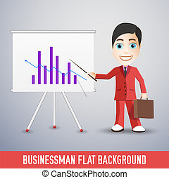 businessman flat background concept. Vector illustration design