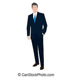 Businessman flat style vector illustration